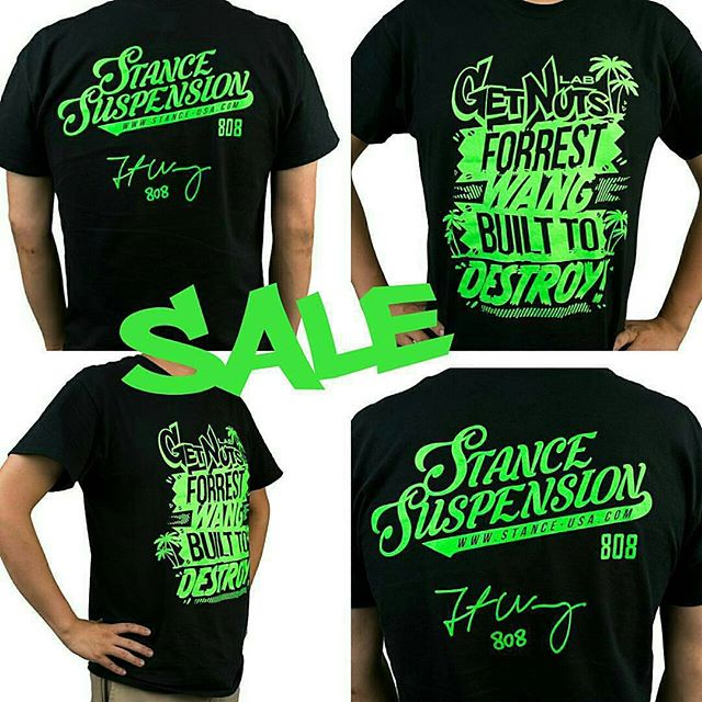 SALE on the @stancesuspension T shirts! $15 this week only! Grab one from the link in our bio or go to Www.getnutslab.bigcartel.com. #getnuts #getnutslab #forrestwang #stancesuspension #stanceusa #stancecoilovers