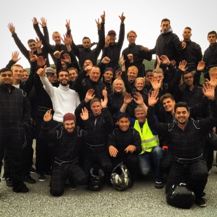 Say hello to the 2015 class of Toyota Norway apprentices! Been battling these lunatics at the gokart track today - #goodtimes!