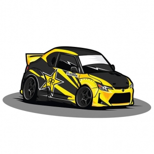 Sweet @rockstarenergy @hankookusaracing @scionracing tC drawing by #SwagnusDesigns!
