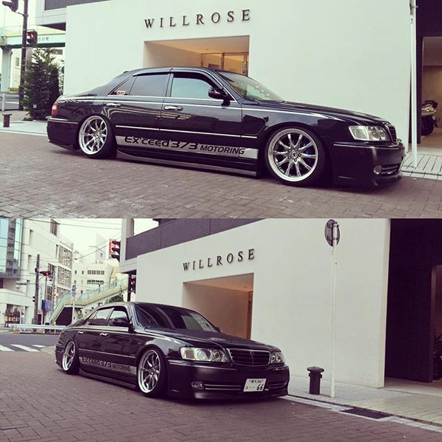 Takuya-sans Cima is on point!!! #Yokosuka #home #allthatlow #exceed #373motoring #vip #japan