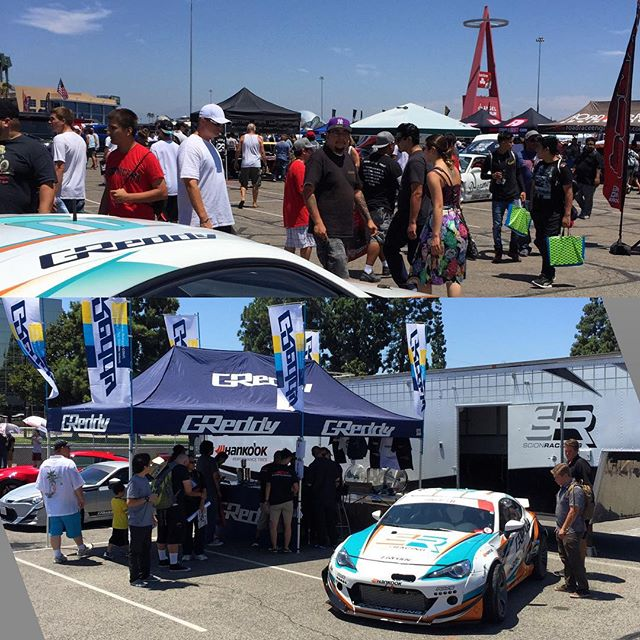 The @greddyracing crew and @kengushi are out here at the #AutoEnthusiastDay. Stop by Angel Stadium and see what GReddy and Rocket Bunny goods we have on sale...