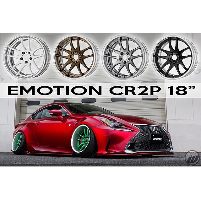 WORK Wheels is happy to announce the WORK Emotion CR 2P is now available in 18