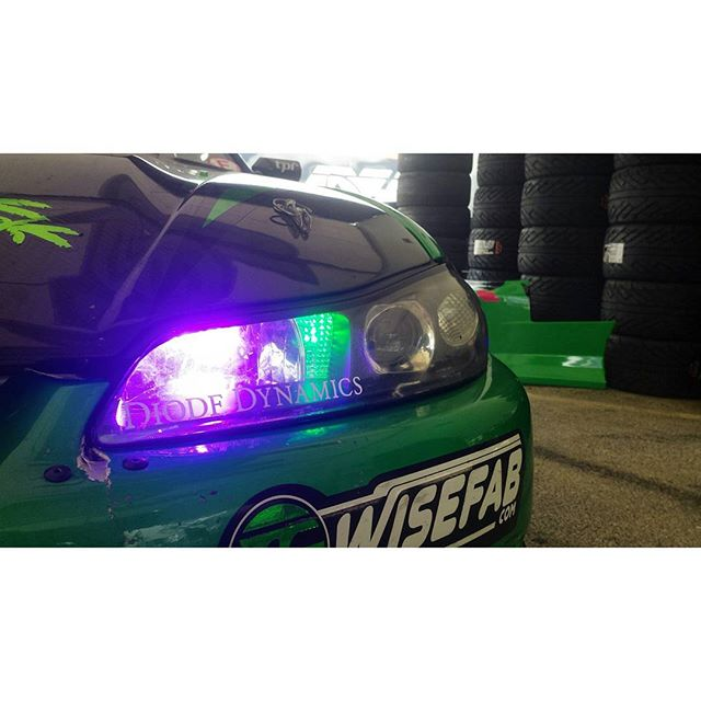 We're loving the @diodedynamics lights this year. Check them out for all your lighting needs. #getnuts #getnutslab #forrestwang #diodedynamics #led #purple #green