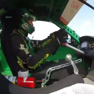 Your view inside the S15 during a little practice.