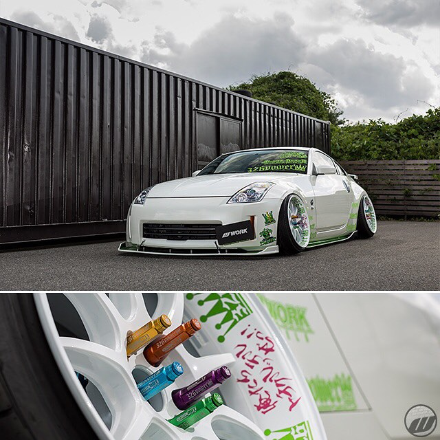 @326power_japan Nissan FairladyZ on WORK Emotion D9R F/R: 19x10.5J +15mm #artofwheel