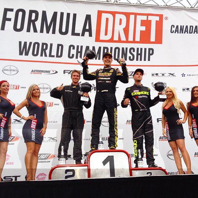 @fredricaasbo in 1st, @tomtom046 in 2nd and @mattfield777 in 3rd at @formulad Canada! #fdcanada #formulad #formuladrift #drifting #eh @formuladriftcanada