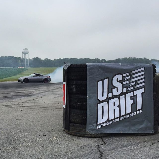 @usdrift practice is going down here at @virnow. Patriot Course is one of my favorite tracks to run on, 4th gear down hill cranking smoke! I wish I brought a car to play in between my judging duties. #4thgearfloored #neverlift