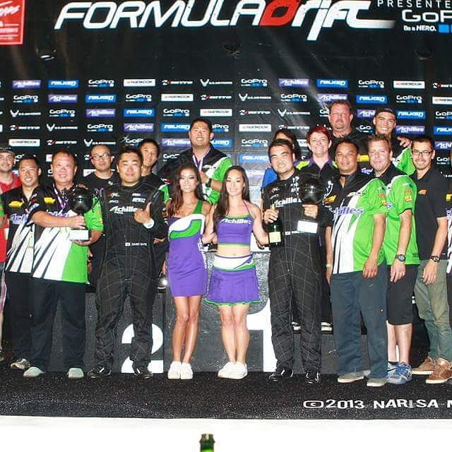 Since the last Irwindale drift event is upon us I figure now would be a good time for a FBF with a side story on how the championship was almost lost. All throughout practice Daigo's car had a really bad misfire and trying to find the cause was one of the most stressful things to solve in a short time. We went from swapping plugs, coils fuel pumps, changing spark gaps to you name it, nothing worked to the point we had to go into qualifying without even finding the problem. After Robbie made his first qualifying run, my right hand man, Peter Yeung said they had problems with the HKS ignition box on a previous car so as a last ditch effort we decided to swap it out before Daigo's qualifying run. The problem was, we didn't have a spare and the only working one we knew of was on Robbie Nishida's SC300 who just finished his first qualifying run. To make matters worse, the connectors for the HKS ignition boxes were completely different between the two cars so it wasn't as easy as plugging a cellphone into an outlet. It would need to be completely rewired. I asked Robbie if we can borrow it for Daigo's run he was quick to say yes to help out his buddy. I jumped in and started cutting wires yet was careful enough to know that Robbie had to do one more qualifying run and needed the box reinstalled in the next few minutes. Keep in mind, this box wasn't just cutting two wires and install it. It was about nine wires and each were specific to where they went and both cars were wired different...by the way, did I mention I am color blind? Cutting wires when your color blind is like being a blind surgeon yet I was able to at least cut the wires at an uneven enough lengths that they would only line up one way. The trick was to do the same on the other car. In the end, for all the qualifying runs this box went from Robbie's car to Daigo's car, back into Robbie's then back to Daigo's eventually being permanently put back into Robbie's car roughly all within minutes of each runs. (Con