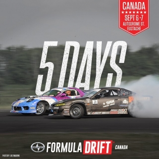 The @formuladriftcanada World Round starts in 5 days on September 6-7 |