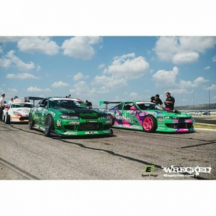 2 of the 3 Get Nuts Lab cars on track today! Ng is using the S14 this weekend. Let's GET NUTS FOR THE FINAL ROUND! #getnuts #getnutslab #forrestwang #alechohnadell #getnutsteam #getnutsboys #fdirw #FormulaD