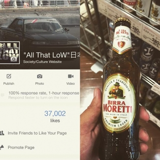 37k time to celebrate with some beer. Hahahahaha #allthatlow thanks to all that believe In this shit. Be passionate for what you love, don't worry about what the next guy is doing.