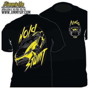 Back in 2010, @jimmyup made a very special Hold Stumt T-shirt where the proceeds would help us get to round 6 of our rookie season. Today, 5 years later, he put up a brand new, throwback #HoldStumt t-shirt design for sale! It still has my characteristic Bandit helmet on the front and that signature style. This T-shirt is only available online until Saturday for $25 and will also be sold at Irwindale this weekend. Click the link in my profile to order now or swing by the #JimmyUp booth in the pits at Irwindale!