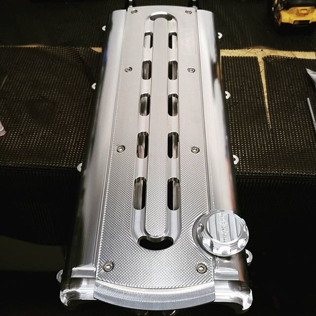 First set of valve cover is cleaned and assembled ready for shipping.
