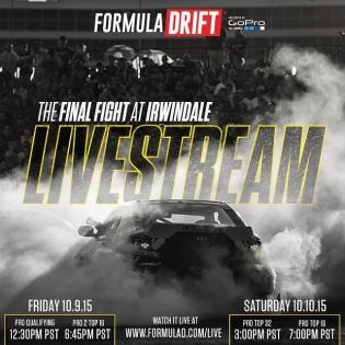 Formula DRIFT Round 7 - Irwindale, CA Livestream Schedule #formulad #fdirw #formuladrift