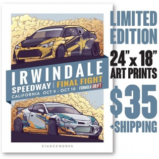"Introducing the StanceWorks x FD Limited Irwindale Edt Art Print Grab yours now, only 250 made. $35 + shipping (worldwide available) Comment ""SOLD"" & your email address Then look for an email from our friends @sasquatch.io to purchase Hand drawn by @Andrew_StanceWorks These 24""x18"" limited edition prints have each been stamped, numbered, and signed to mark their authenticity, and the colorful scene has been full-color offset printed using vegetable inks on high quality, thick 12pt paper stock #sasquatch and sp/9-a #FDIRW #Formulad #StanceWorks"