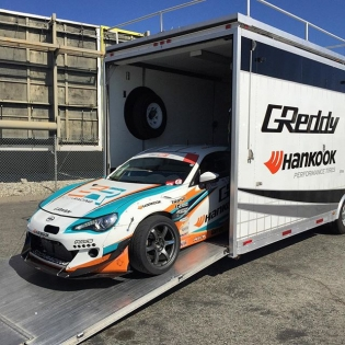 It's finally #hankookusaracing time. The teams practice today for tomorrow rd7 qualifying. @kengushi and the @greddyracing x @hankookusaracing x @scionracing FR-S