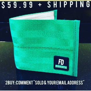 """Last Chance!! 2015 FD/Takata Green Wallets Only 200!! Left $59.99 + shipping worldwide To Buy: Comment """"SOLD & your email address"""" Watch for an email from our friends @sasquatch.io for a special checkout link · New logo · New Tan eco friendly lining · New takata business card insert Lifetime warranty included. sp/7-b #sasquatch #takataracing"""