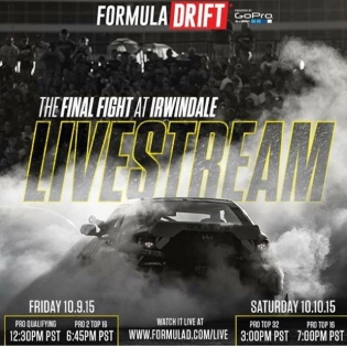 Livestream starts today. Check the flyer and log on to watch all the action today at @formulad Irwindale Speedway. #RT411
