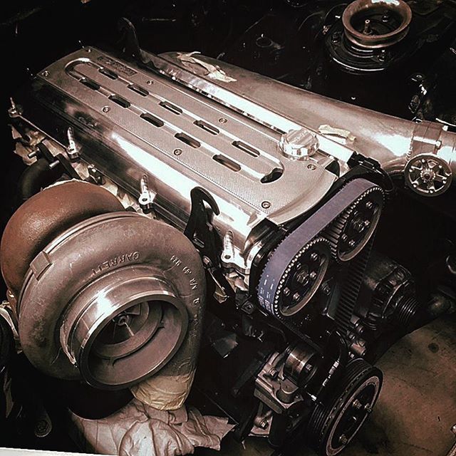 Oversea customer installed on our billet valve covers and coilcovers. More to come.