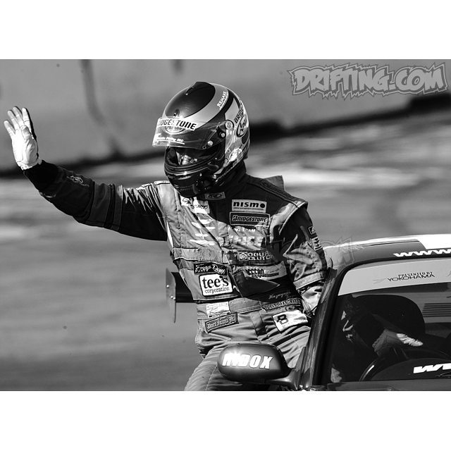 """""""Rodeo Drift Master"""" Yasuyuki Kazama at a 2003 Drift Showoff - photo by alex (2003-2005 Pro-Drifting in the U.S.A.)"""