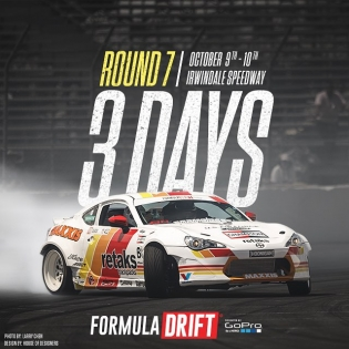 Round: 7 The Final Fight starts in 3 days! This season has been a close one. The winner of the 2015 season will be crowned at Irwindale speedway. #formulad #fdirw #formuladrift