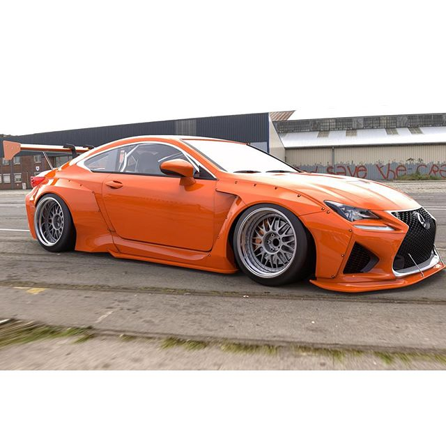 This @lexustuned build will debut next week at Sema. Another kit by Mr. Muira / rocketbunny |