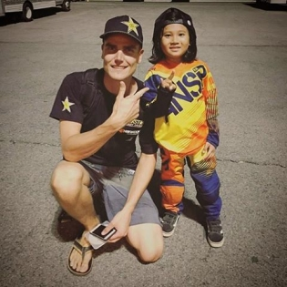 This little guy & I are wishing all you guys out there a great weekend! Start 'em young, huh?