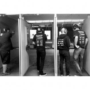 Back in LA for #PapadakisRacing offseason gun practice. Learning to be a good American... Shot my first bullseye today!