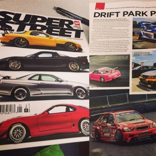 Got that new @superstreet thanks for showing the ️ guys. Really means a lot. #superstreetmagazine #allthatlow #drift #printisnotdead