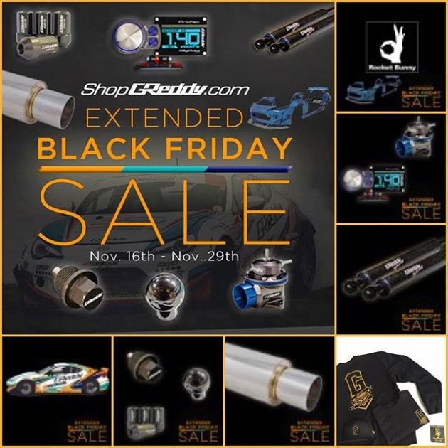 Last days of our #ShopGReddy.com Extended [BLACK FRIDAY SALE ] - offers end Sunday at Midnight. Save now!
