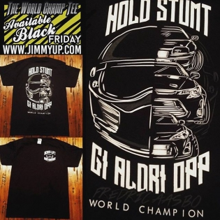 Our brand new World Champion T-shirt is now up for sale on Black Friday! My most favorite @jimmyup design yet, with the Supra, 86-X and of course the tC being part of the design... Get it now for $25 - the link is in my profile! #NeverSurrender #BlackFriday #HoldStumt