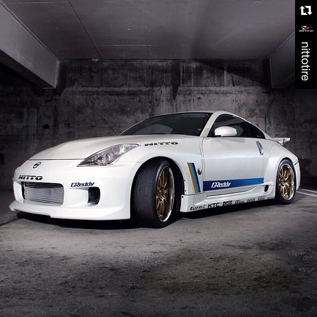 """Our first Gran Turismo """"Best Japanese Import"""" winner from the 2007 750whp @greddyracing 350Z HR ・・・ @nittotire Twin turbo greatness. @greddyracing"""