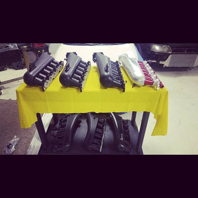 Rest of our intake manifold is prepped and ready for our fuel rail. Then shipping out.