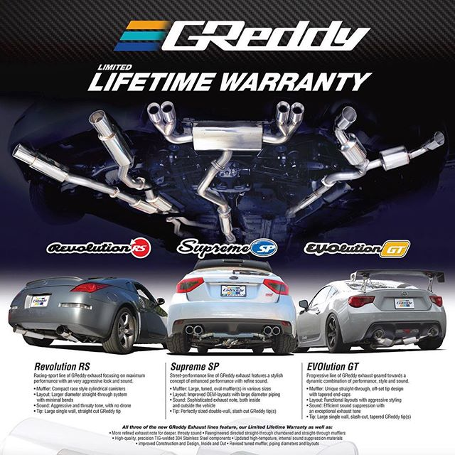 #RevolutionRS, #SupremeSP, & carry our limited Lifetime Warranty for the original purchaser on the original vehicle.