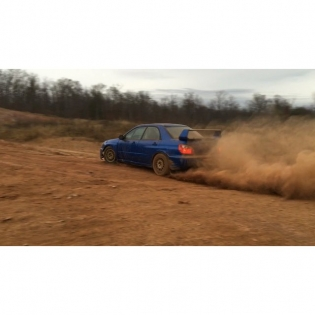 Ripping around the backyard in this sweet STI. So much fun spinning all 4 in the dirt! #quarryparty