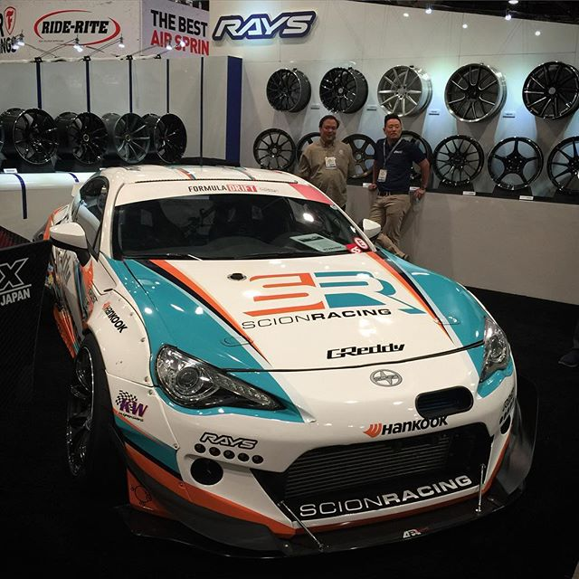 day 2 is just about here. Visit @kengushi's @greddyracing X @scionracing FR-S in the / @raysmsc booth, then make your way over to the upper South Hall to find the GReddy team