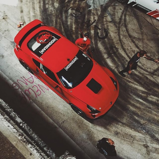 Shots from above by  @yaer_one. @chrisforsberg64's cars looked so proper for #HooniganBlackFriday. Was stoked to get behind the wheel for some insanity.
