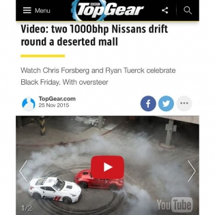 Thanks @topgear! Glad you approve of #HooniganBlackFriday. @nissan @nismo @thehoonigans