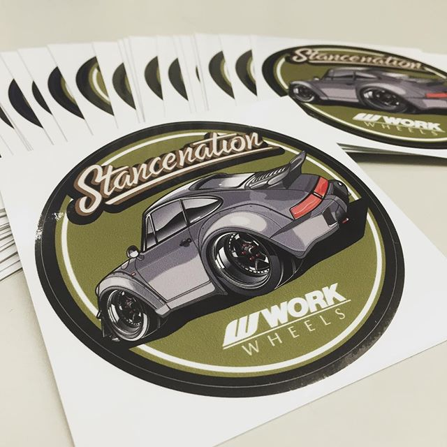 Work will be offering a new sticker this sunday during the stancenation event in odaiba