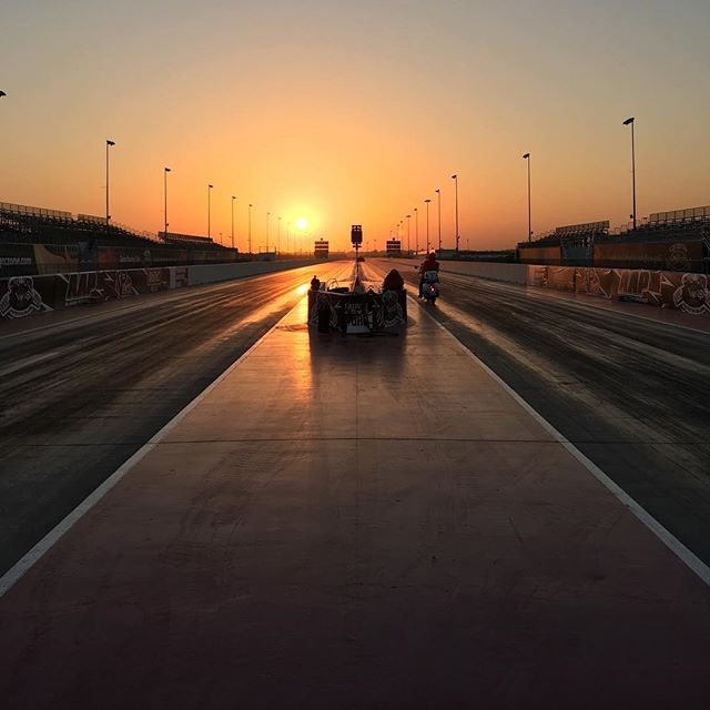 Hanging out at the Qatar Racing Club for the Qatar Drift Championship event this weekend. This is the flattest 1/4 mile drag strip in the world.