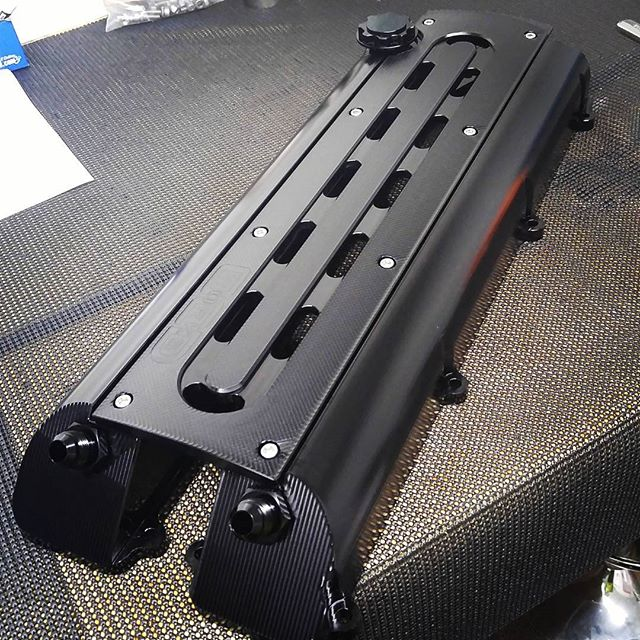 Ocdworks Billet 2jz Valve Cover Anodized Black Is Going To