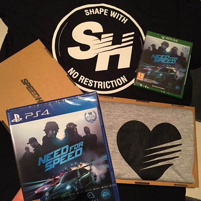 This care package from @needforspeed and @thespeedhunters showed up today! Just in time for the holidays - thanks guys!