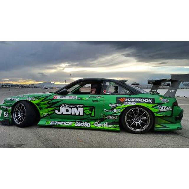 @garretnuts driving the S14 @vegasdrift