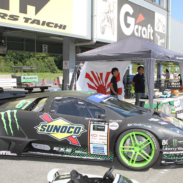 A sleeping monster - Formula Drift Japan @monsterenergy @sunocoracing