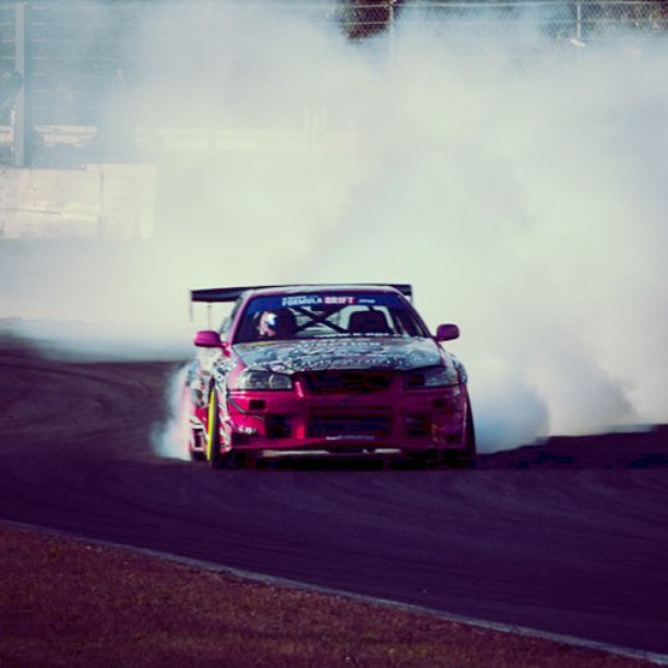 Today's weather: Cloudy! @ Formula Drift Japan Round 4 2015 -