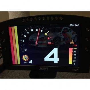 @johnreedracing throwing together some custom display options on the @motecusa #C127 display. I thought this one was rad! #Motec #m1army