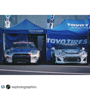 @trust.greddy demo cars. 1000+hp GT-R and 500+hp 86  @exphotographiro at #TAS2016