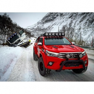 I hereby present to you the brand new Toyota Hilux Arctic Truck! Stay tuned as this ultimate winter survival machine plays a key role in #Børning2: On Ice! @toyota_norge @arctictrucksnorge @borning_film