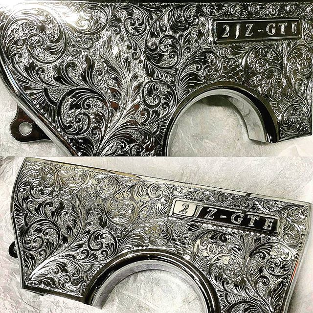 Rob is the man who takes Ocdworks billet goodies to next level of art. @rm_polishing - OCD centre belt cover. Engraved and chromed.