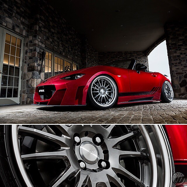 @kuhlracing Mazda Roadster on new WORK XSA 05C F/R:18x9J +33mm